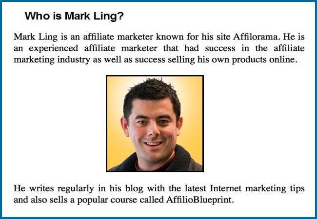 The Affilorama Review--who is Mark Ling