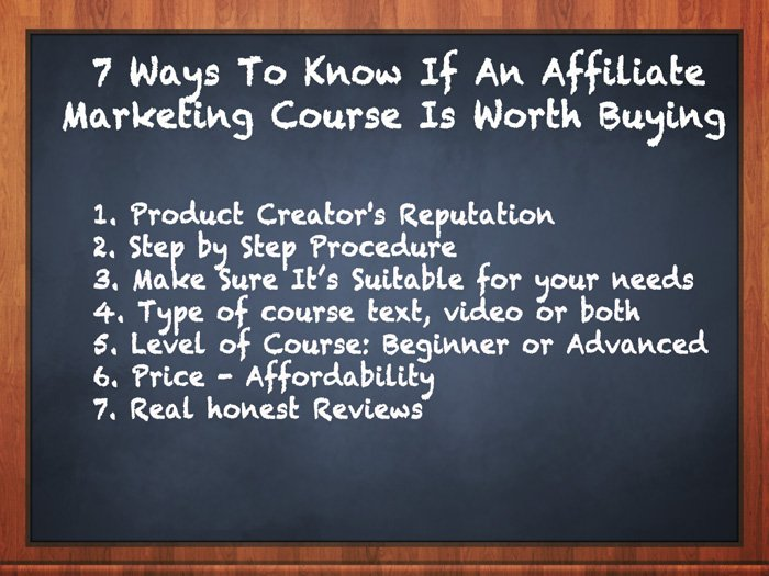 How to find the best affiliate marketing course - 7 tips