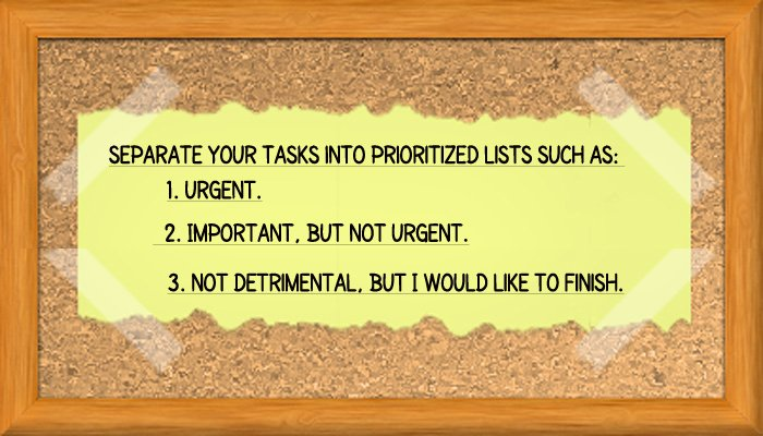 Prioritize Tasks